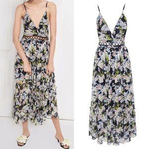 Marissa Webb S Deanna Floral silk cut out dress
